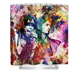 Aerosmith Original Painting Shower Curtain by Ryan Rock Artist