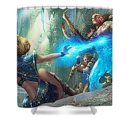 Aetherize Shower Curtain by Ryan Barger