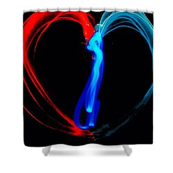 Affection In Light Shower Curtain by Lisa Brandel