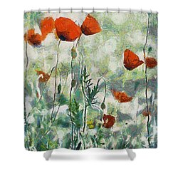 Shower Curtain featuring the painting Affection by Joe Misrasi