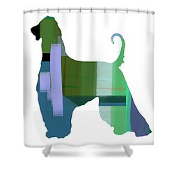 Afghan Hound 1 Shower Curtain by Naxart Studio