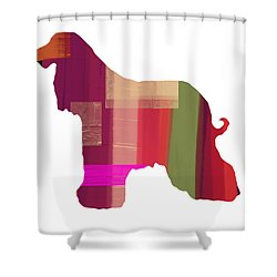 Afghan Hound 2 Shower Curtain by Naxart Studio