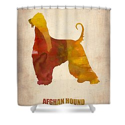 Afghan Hound Poster Shower Curtain by Naxart Studio