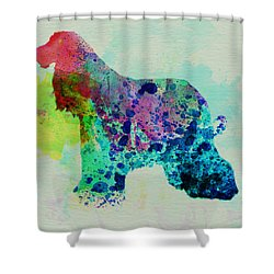 Afghan Hound Watercolor Shower Curtain by Naxart Studio