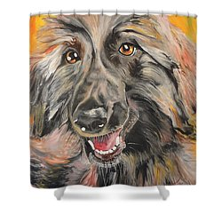 Shower Curtain featuring the painting Afghan by PainterArtist FIN