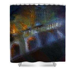 Aflame Shower Curtain by Lisa Kaiser