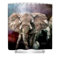 Africa - Protection Shower Curtain by Carol Cavalaris