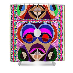African Art Style Mascot Wizard Magic Comedy Comic Humor  Navinjoshi Rights Managed Images Clawn    Shower Curtain
