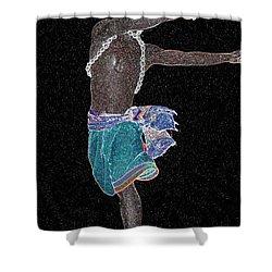 African Constellation Shower Curtain