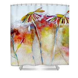 African Daisy Abstract Shower Curtain by Lisa Kaiser