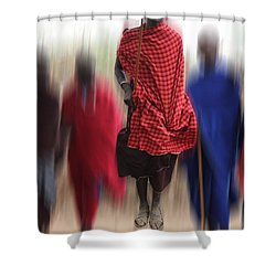 Shower Curtain featuring the photograph African Dance by Christine Sponchia