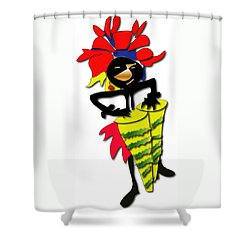 African Drummer Shower Curtain