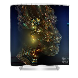 African Man Shower Curtain by Peter R Nicholls