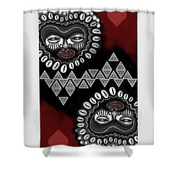 African Queen-of-hearts Card Shower Curtain