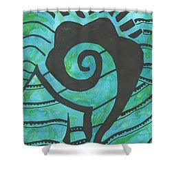 African Question Mark Shower Curtain