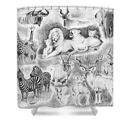 African Safari Shower Curtain