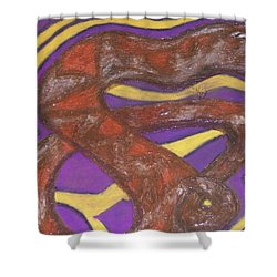 African Snake Diety Shower Curtain by Jonathon Hansen