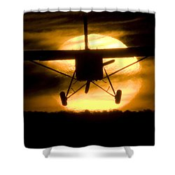 Shower Curtain featuring the photograph African Sunset by Paul Job