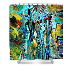 African Tribe Festivals Shower Curtain by Kelly Turner
