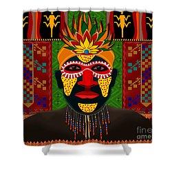 African Tribesman 1 Shower Curtain by Bedros Awak