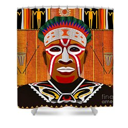 African Tribesman 3 Shower Curtain by Bedros Awak