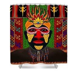 African Tribesmen Shower Curtain