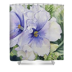 African Violet Shower Curtain by Carol Flagg