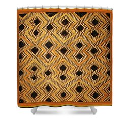 African Zaire Congo Kuba Textile Shower Curtain by Vagabond Folk Art - Virginia Vivier