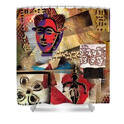 Afro Aesthetic B Shower Curtain by Everett Spruill