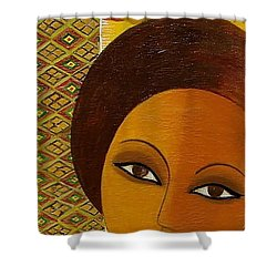Afro Beauty Shower Curtain