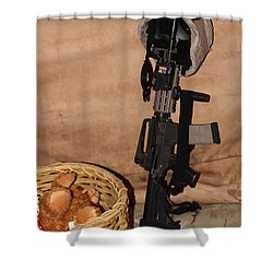 After A Hard Day In Combat Shower Curtain by Shoal Hollingsworth