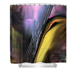 Shower Curtain featuring the painting After Dark 2 by Yul Olaivar