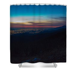 After Dark Shower Curtain by Heidi Smith