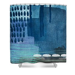 After Rain- Contemporary Abstract Painting  Shower Curtain