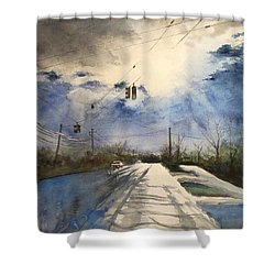After Rain -on The Michigan Ave. Saline Michigan Shower Curtain