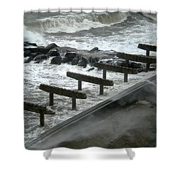 Shower Curtain featuring the photograph After Storm Sandy by Joan Reese