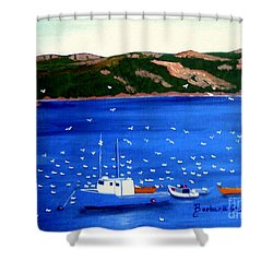 After The Catch Shower Curtain by Barbara Griffin