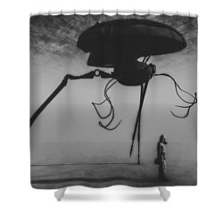 After The Invasion Shower Curtain by Bob Orsillo