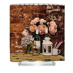 After The Party Shower Curtain by Kaye Menner