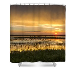 After The Rain Shower Curtain by Debra and Dave Vanderlaan