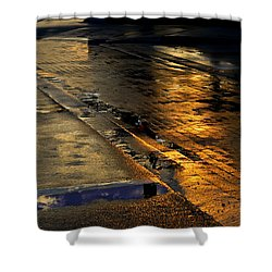 After The Rain Shower Curtain by Laura Fasulo