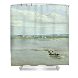 After The Rain Shower Curtain by Max Liebermann