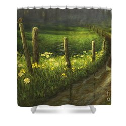 After The Rain Shower Curtain by Veikko Suikkanen