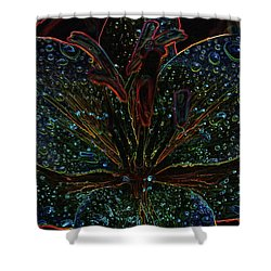 After The Rain With An Added Glow Shower Curtain by Teri Schuster