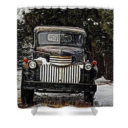 After The Snow Falls Shower Curtain by Ken Smith