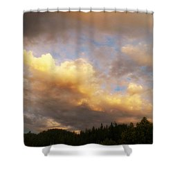 After The Storm -  Lake Arrowhead Shower Curtain by Glenn McCarthy Art and Photography