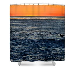 After The Sunset Glow In La Jolla Shower Curtain by Sharon Soberon