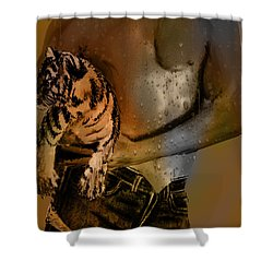 After The Workout Shower Curtain by EricaMaxine  Price