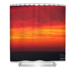 Afterglow Shower Curtain by Mariarosa Rockefeller