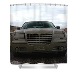 Aftermath Of The Mud Flood And Suddenly Things Went Dark Shower Curtain by Lon Casler Bixby